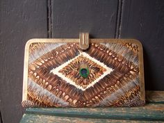 Feather Purse 1980s by ginnyandjudes on Etsy, $25.00