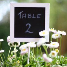 Blackboard Wedding Table Numbers - Set Of 5 #theweddingofmydreams