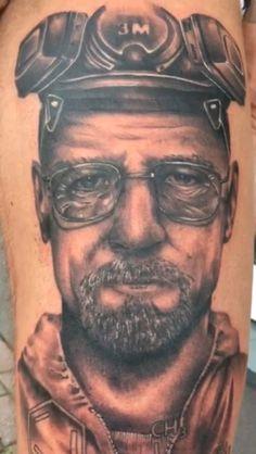 My fresh ink Walter white alias heisenberg from breaking bad