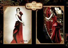 Satine's red dress = my (pretend) wedding dress