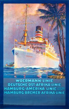 WL Woermann Linie. Buque Usambara (1920)