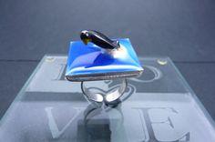 Resin art ring  Emperor Arctic Penguin statement by artzbakery, $14.80