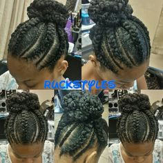 Cherokee braids and Corn Rows by Ruckstyles