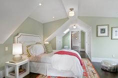 Wall color is Spring Valley from Benjamin Moore. Gorgeous light green. So pretty mixed with oranges and coral.