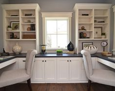 Furniture  White Home Office Furniture With Double Chairs Modern Home Office Design For Two People
