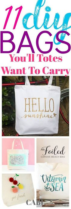 These 11 DIY TOTE cr