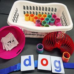 Phonemic Awareness - Word Stretchercisers  JK/SK - Grade 1 Have students pull a picture card from the bowl and stretch the word out to hear its individual sounds. Use manipulatives that stretch (like a slinky) to support students stretching words out and segmenting their sounds.  Pairing the oral segmenting with a motion like stretching can help students make sure they are not missing any sounds in the word. Offer letters in case students want to try to find the letters for each sound.