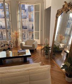 Dream Home Design, My Dream Home, Home Interior Design, Interior Architecture, Parisian Apartment, Dream Apartment, Paris Apartments, Aesthetic Rooms, Dream Rooms