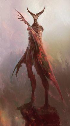 Daemon – fantasy/horror character concept by Antonio J. Manzanedo