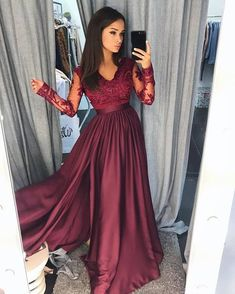 V-Neck A-Line Prom Dresses Lace Graduation Dress Cheap Evening Dress Chiffon Fashion Dress Slit Party Gowns 2018 Hot Long Sexy Prom Gowns sold by Ulass. Shop more products from Ulass on Storenvy, the home of independent small businesses all over the world.