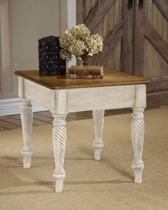 Hillsdale Wilshire End Table - Antique White Price: $240.00