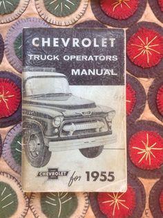 Chevrolet Truck Operators Manual 1955.  | eBay