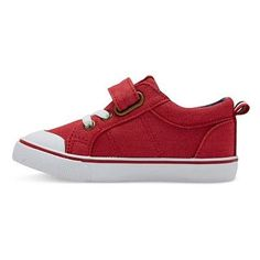 Toddler Boys' Dallon Canvas Sneakers Cat & Jack - Red 11