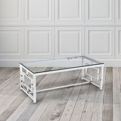 Home Gear Zuri Stainless Steel Coffee Table