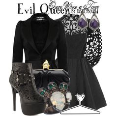 Evil Queen by leslieakay on Polyvore featuring Coast, Iron Fist, Alexander McQueen, Michael Spirito, Betsey Johnson, Alexis Bittar and Disney