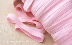 Light Pink Fold Over Elastic 10 yd 5/8 inch by HairbowSuppliesEtc