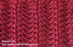 Rib Knitting Stitch: Rib Stitch