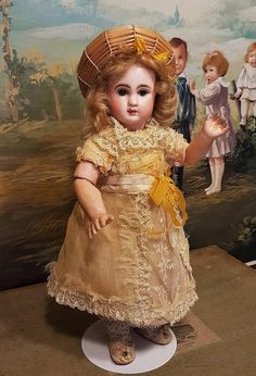 """~~~ Darling 10"""" French Bisque Bebe Steiner in original Costume ~~~ from whendreamscometrue on Ruby Lane"""