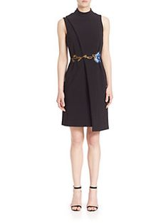 Christopher Kane - Rose-Embroidered Wrap Dress
