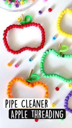 Apple Activities, Preschool Learning Activities, Autumn Activities, Sensory Activities, Preschool Crafts, Toddler Activities, Fall Crafts For Kids, Toddler Crafts, Projects For Kids