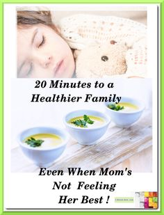 20 Minutes to a great tasting nutritious soup. Easy on everyone, including mom when she's not at her best. Easy Meals, Feelings, Mom Blogs, Healthy, Effort, Recipes, Content, Food, Eten