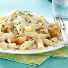 Penne Gorgonzola with Chicken Recipe from Taste of Home :: shared by George Schroeder of Port Murray, New Jersey :: http://pinterest.com/taste_of_home/ #Quick_Dinner
