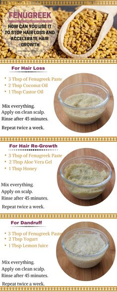 How to Use Fenugreek for Hair Loss, Hair Thinning and Hair Re-Growth - Hair Loss Treatment Hair Remedies For Growth, Hair Growth Treatment, Hair Loss Remedies, Treatment For Thinning Hair, Natural Hair Loss Treatment, Oil For Hair Loss, Stop Hair Loss, Prevent Hair Loss, Natural Hair Growth