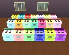 The cheapest stove in 20 colours by Chiosser at TSR via Sims 4 Updates