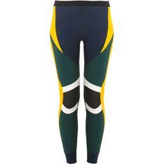 NO KA' OI Laka Leggings (715 BRL) ❤ liked on Polyvore featuring pants, leggings, multi color leggings, colorful leggings, multi colored leggings, multi colored pants and elastic waist pants