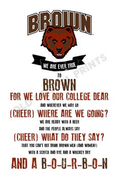 Brown University Fight Song Print
