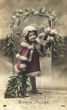 vintage photo, looks like Holiday Season in the 20's.  Just enchanting!!