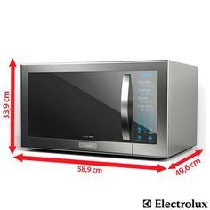Imagem para Forno de Micro-ondas Electrolux Home Pro 42L com 10 Níveis de Potência e Painel de Controle Blue Touch  Grill Inox  - MEC52 a pa...
