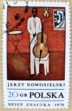 fine stamp Polska Poland 20 gr Jerzy Nowosielski (polish painter, graphic artist) 1970