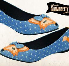 foxy flats! omg! #blamebetty #adorable #foxy