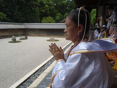 Ryōan-ji rock garden in Kyoto, Japan - 2007