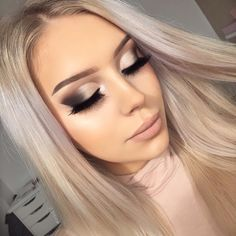 "4,648 curtidas, 167 comentários - Lena Bagrowska ✨ (@lenkalul) no Instagram: ""My go to type of a makeup look  #glam #glamgirls  Brows: @anastasiabeverlyhills @norvina dipbrow…"""