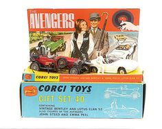 "Mettoy Corgi Toys ""The Avengers"" gift set Retro Toys, Vintage Toys, Childhood Toys, Childhood Memories, Toys In The Attic, Corgi Toys, Hot Wheels Cars, Toy Collector, Old Toys"