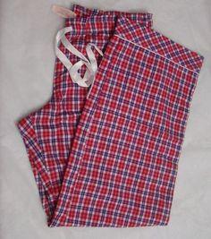 Victorias Secret The Dreamer Flannel Pajama Pants NWT red check L #VictoriasSecret #LoungePantsSleepShorts