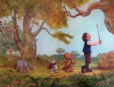 http://www.jameshance.com/wookiee-the-chew.html | James Hance combines Winnie the Pooh and Star Wars, LOVE his stuff.