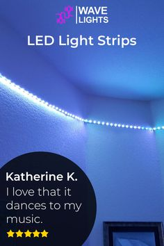 Katherine K. loves the feature of syncing music with the LED strip lights. The lights dancing tothe music, a perfect metaphore to describe the experience. Click here to order and create your own symphony. Led Light Strips, Led Strip, Alexa Echo, App Control, Palm Of Your Hand, Cutting Tables, Get The Party Started, Gaming Setup, Free Wifi