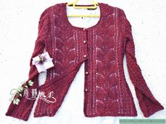 Cardigan with pattern diagram at source