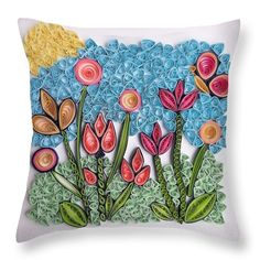 Pillow Reviews, Pillow Sale, Lights Background, Basic Colors, Poplin Fabric, Beautiful Patterns, Handmade Art, Spring Flowers, Color Show