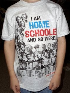 I need this! So many famous people were homeschooled, and yet people think we'll never make anything of ourselves.