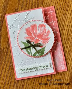 Card Making Inspiration, Making Ideas, Embossed Cards, Stamping Up Cards, Card Sketches, Sympathy Cards, Paper Cards, Cool Cards, Flower Cards
