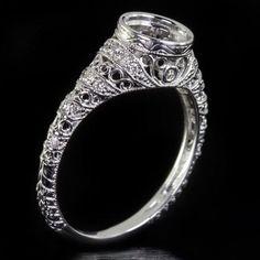 1ct. Vintage Antique Round Engagement Bezel by IvyandRoseVintage