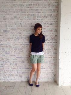 haco. | iyuさんのニット・セーター「haco. エムトロワ こだわりデザインのシャツレイヤードニットの会」を使ったコーディネート