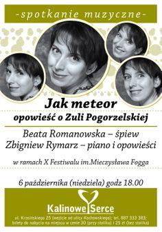 #BeataRomanowska #ZbigniewRymarz Jak meteor opowieść o #ZulaPogorzelska w #KalinoweSerce