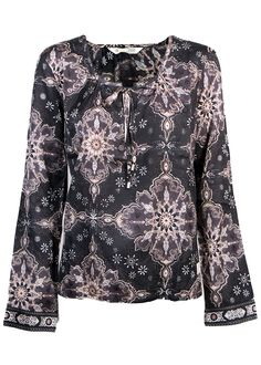 Odd Molly Bluse print - Afternoon Delight l/s Blouse 916M-743 almost black – Acorns