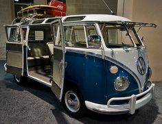 This Kombi is so loved that it lives inside with carpet? Hmmm maybe a little extreme but anyway;)