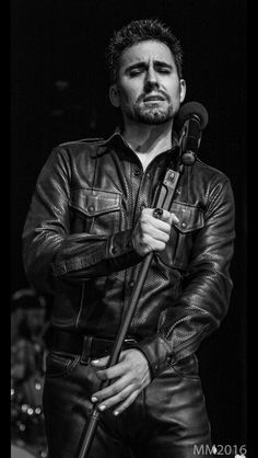"""myeyesadorejly: """" liznyc120: """" judyhilo: """" John Lloyd Young - Black Leather Poet Sterlings Upstairs at the Federal October 30, 2016 Photo by Michelle Majors Some photos deserve to be set apart :) """" Beyond gorgeous! """" I just melted into a puddle..."""